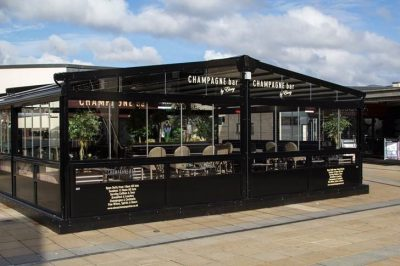 Ebony Champagne Bar Fixed Roof Structure